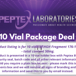 Peptex Laboratories Bulk Package Deal HGH Fragment 176-191AA 5mg x 10 vials - 50mg total content